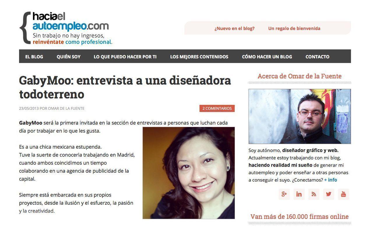 """Me Entrevista Omar de la fuente del blog """"hacia el autoempleo""""!!!"""