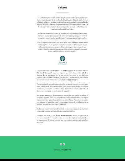 Valores - Álamo Investigación Privada y Consultoría Estratégica (20170102)